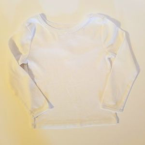Gymboree Baby Solid White Long Sleeve Shirt 2T